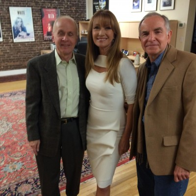 Jane Seymour with Michael McClellan and Stephen Farber at the 35th anniversary screening of SOMEWHERE IN TIME.