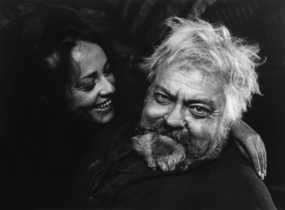 Jeanne Moreau as Doll Tearsheet and Orson Welles as Falstaff. Courtesy of Janus Films.