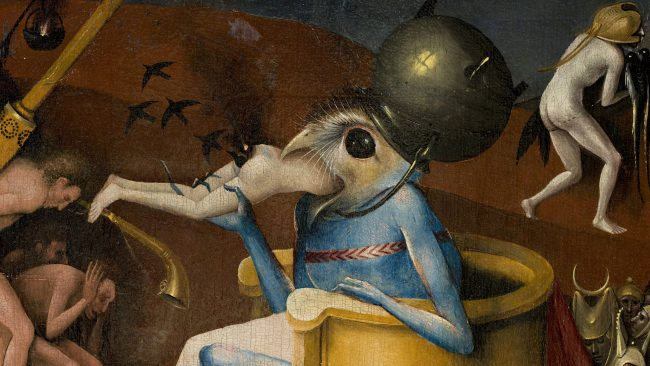 Detail from: The Garden of Earthly Delights circa 1494-1516. Madrid - Museo Nacional del Prado