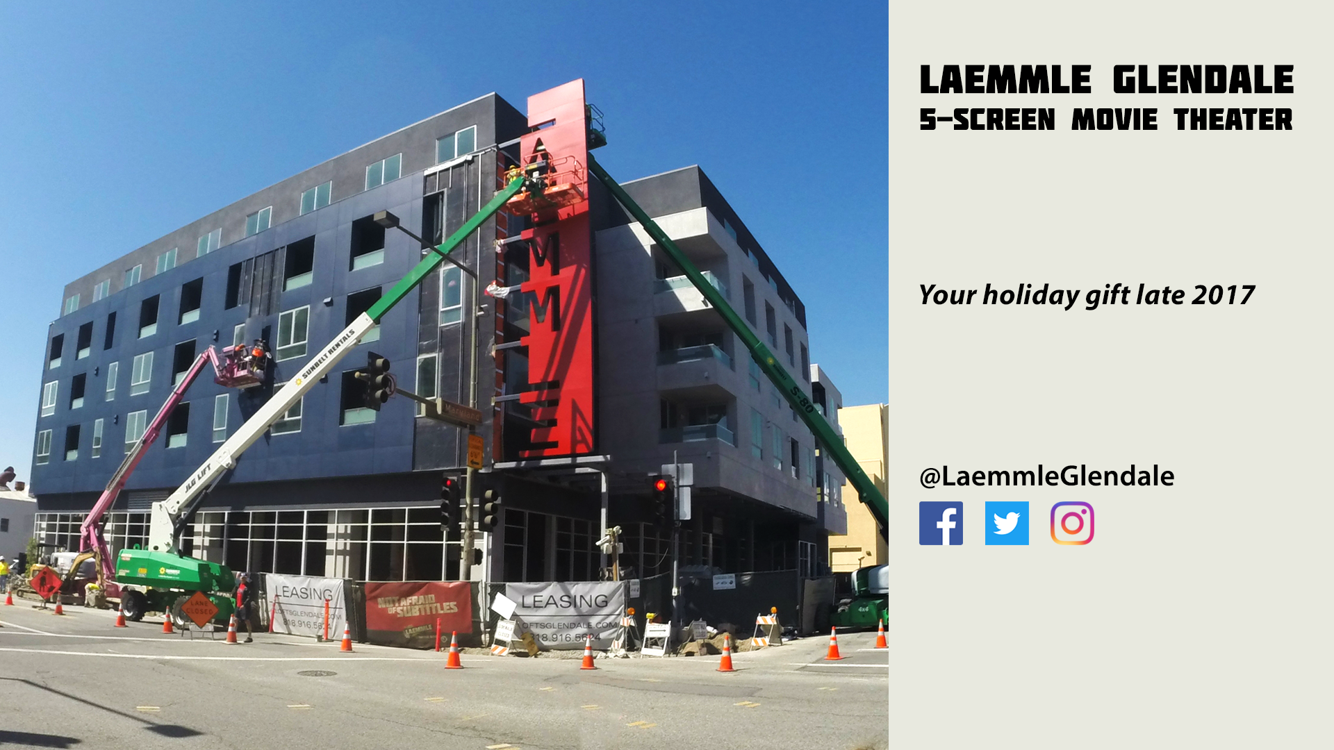 Laemmle glendale update sign installation video and for The glendale